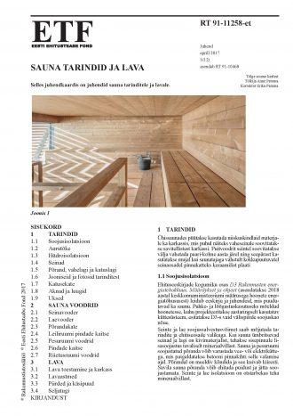 RT 91-11258 Sauna tarindid 1